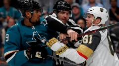 Pavelski's painful goal leads Sharks past Golden Knights 5-2 Article Image 0