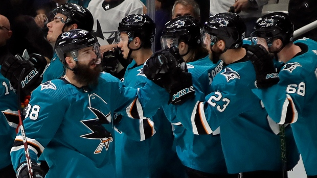 Big second leads Sharks past VGK in feisty opening game - TSN ca