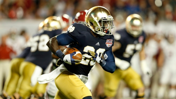 Former Notre Dame RB Cierre Wood Arrested After Girlfriend's Daughter Dies