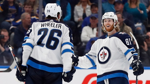 a965c2d17113 Connor scores twice as Jets bounce back with win over Blues - TSN.ca