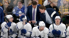 Mike Babcock and Toronto Maple Leafs bench