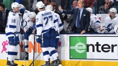 Tampa Bay Lightning bench