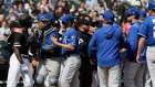 Kansas City Royals Chicago White Sox benches clear