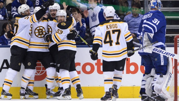 Pastrnak Heats Up As Bruins Hold Off Surge By Leafs To Even Series Tsn Ca