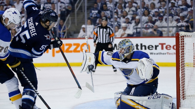 Jets looking to finally find home success vs. Blues