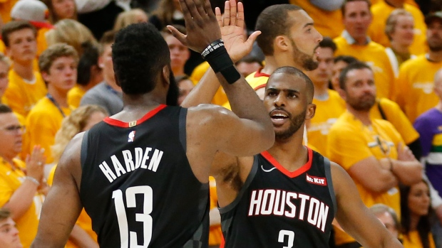 65d353f29368 Rockets beat Jazz for 3-0 series lead - TSN.ca