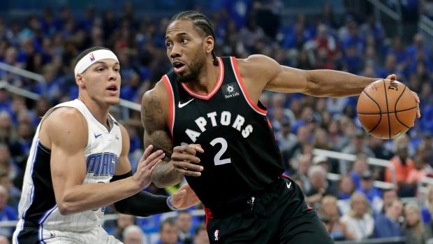 0fb0dcceb1c Healthy Kawhi scores 34 points as Raptors take 3-1 series lead - TSN.ca