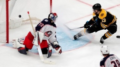 Coyle scores twice, Bruins beat Blue Jackets 3-2 in OT Article Image 0