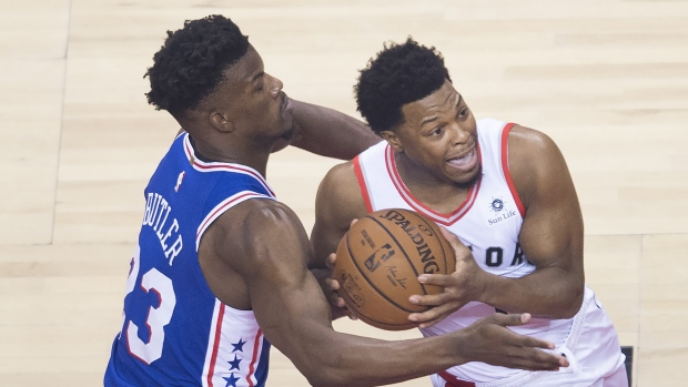64881ee1a9b WATCH LIVE  76ers lead Raptors in the second quarter