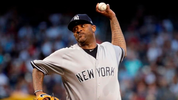 Yankees' Sabathia becomes 17th pitcher with 3,000 strikeouts