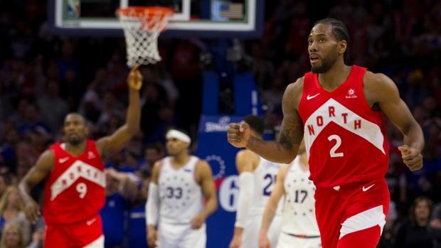 Leonard scores 39, Raptors even up series with win over Sixers - TSN ca