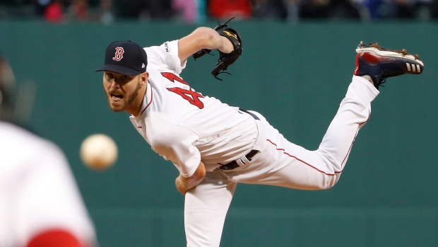 c7d06a238 Chris Sale strikes out 17 in 7 innings, Colorado Rockies top Boston Red Sox  in 11 - TSN.ca