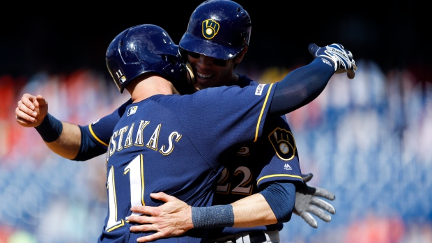 Mike Moustakas Christian Yelich