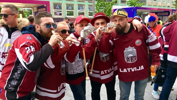 Latvia fans World Hockey Championship