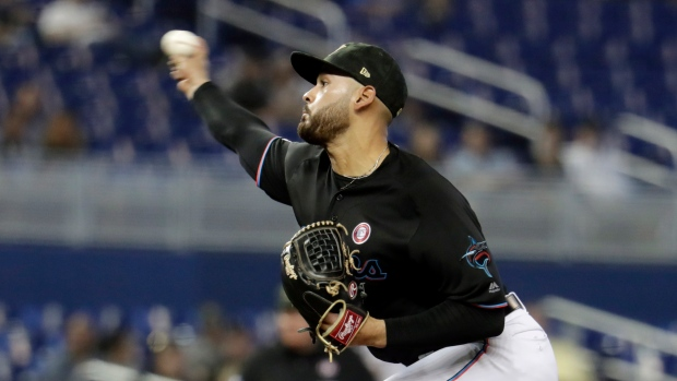 a298226cd Miami Marlins hold New York Mets to one hit  hand New York fourth ...