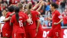 Christine Sinclair Team Canada Celebrates