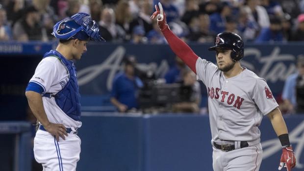 9b21f42135b70b Boston Red Sox crush Vladimir Guerrero-less Toronto Blue Jays in ...