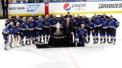 St. Louis Blues with Clarence S. Campbell Bowl