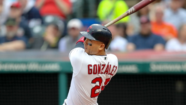 Indians designate OF Gonzalez for assignment