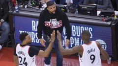 Drake, Norman Powell and Serge Ibaka
