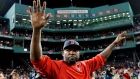 David Ortiz waves to Boston fans