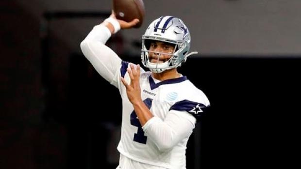premium selection 25134 27f28 Dallas Cowboys' Dak Prescott clicks quickly with new QB ...