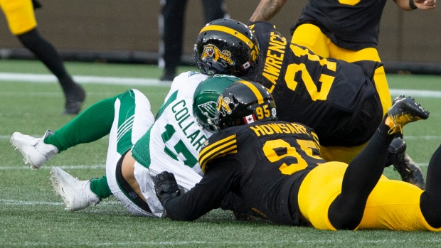 Simoni Lawrence hit on Zach Collaros