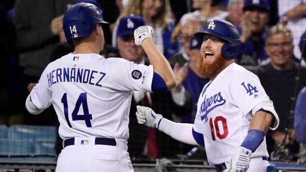 size 40 ebb05 dafa1 Enrique Hernandez grand slam helps Los Angeles Dodgers rout ...