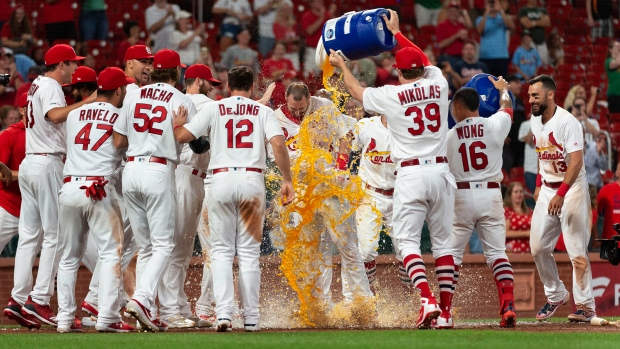 Paul Goldschmidt and Cardinals Celebrate