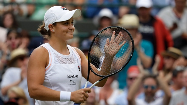 'No stress' Barty embraces number one tag at Wimbledon