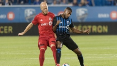 Anthony Jackson-Hamel challenges Michael Bradley