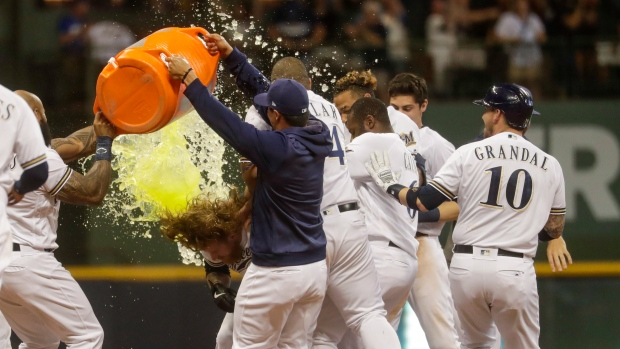 Milwaukee Brewers celebrate