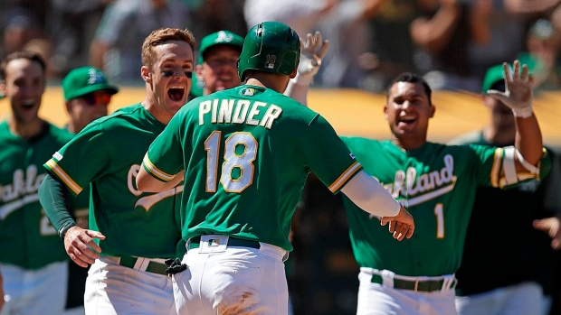 Oakland Athletics turn 9th-inning throwing error into 3-2 win over