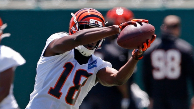 A.J. Green carted from practice, believed to have suffered sprained ankle