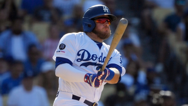 brand new 4eebd a8fd3 Max Muncy's walk-off double sends Los Angeles Dodgers past ...