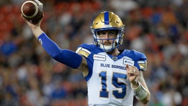 Agent: Blue Bombers QB Nichols 'upset' over Collaros re-signing priority - TSN.ca