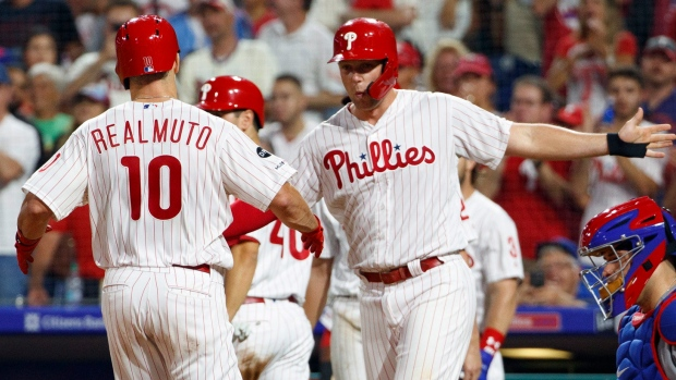 J.T. Realmuto and Rhys Hoskins