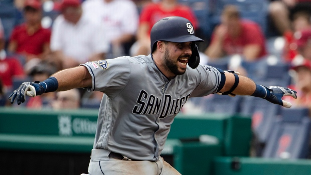 e12f02bc Austin Hedges has four hits to lead San Diego Padres past ...
