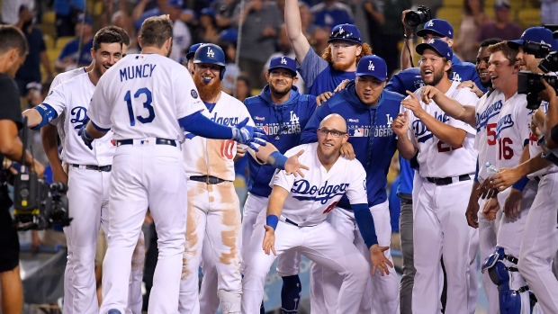 Max Muncy and Dodgers Celebrate