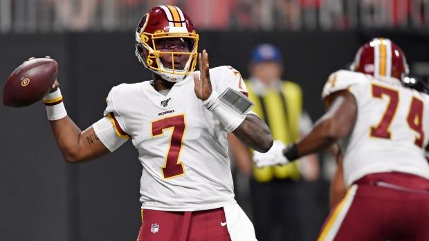 b1dfedae Rookie Dwayne Haskins leads Washington Redskins past fumbling ...