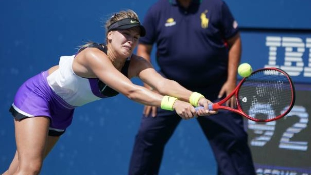 Eugenie Bouchard out of US Open after first-round loss to 12th-seed Sevastova - TSN.ca
