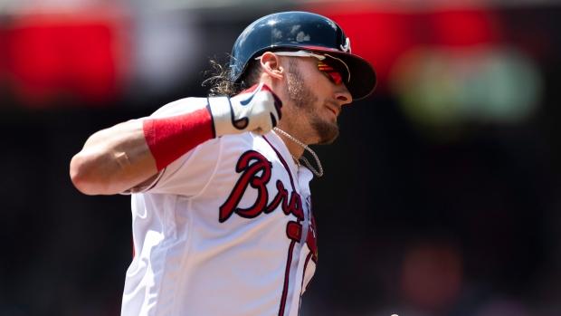 new product b2919 c1e18 Johan Camargo, Josh Donaldson hit home runs as Atlanta ...
