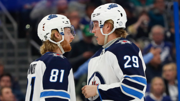Kyle Connor and Patrik Laine
