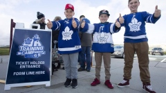 Hockey fans in Paradise, N.L. buzzing with excitement over Leafs training camp Article Image 0