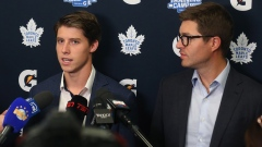 Mitch Marner and Kyle Dubas