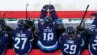 Nikolaj Ehlers, Bryan Little and Patrik Laine