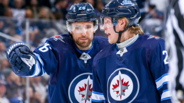 Blake Wheeler and Patrik Laine