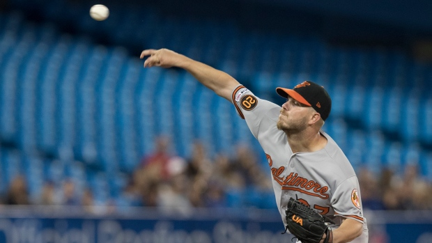 Orioles trade RHP Bundy to Angels