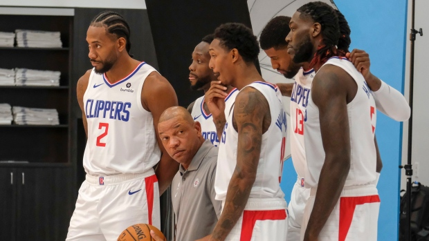Kawhi Leonard and the Clippers - Media Day