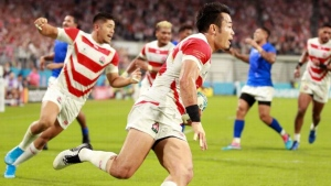 Hosts Japan edge closer to Rugby World Cup quarterfinal berth